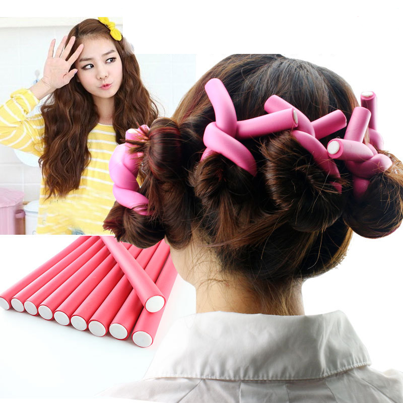 5Pcs/set Curler Makers Soft Foam Bendy Twist Curls DIY Styling Hair Rollers Tool For Women Hair Accessories Makeup Beauty Hot(China (Mainland))