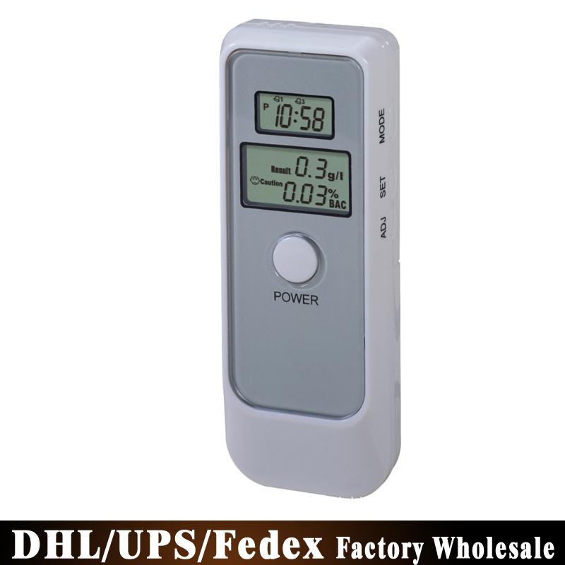 Free DHL Fedex 50PCS Detector Dual LCD Display Digital Alcohol Tester and Timer Analyzer Breathalyzer PFT-662(China (Mainland))