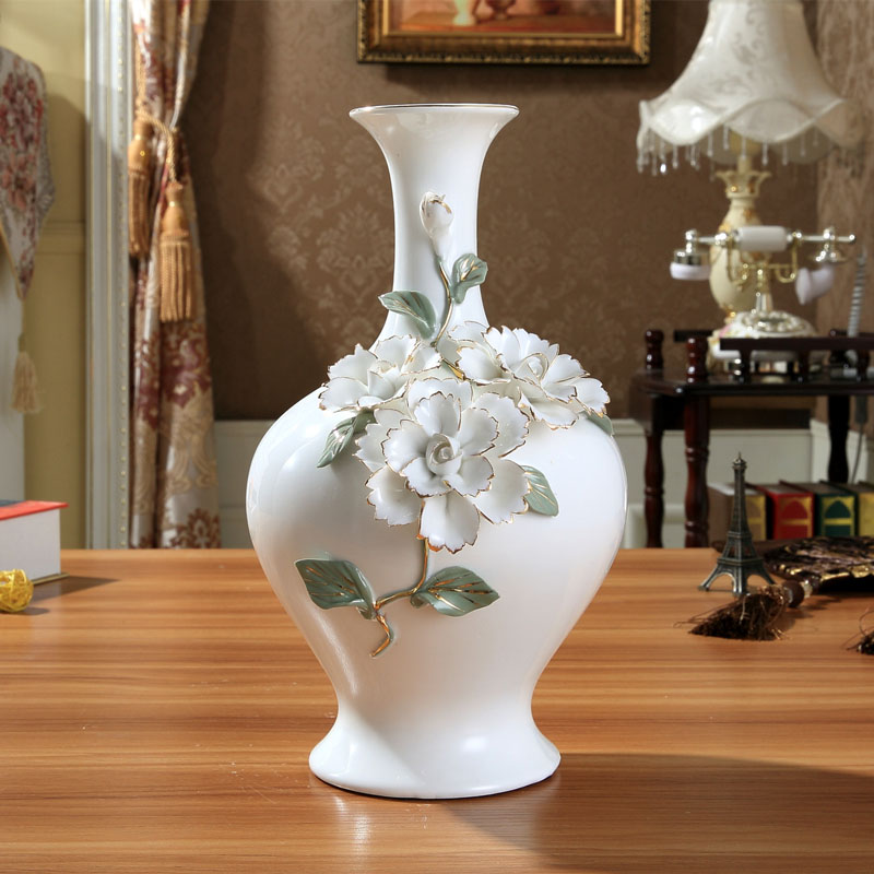 ceramic chinese white modern flowers vase home decor large ceramic chinese white modern flowers vase home decor large