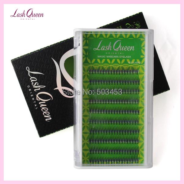 2016 new Three Planted Eyelashes Handmade Synthetic Hair Strip lashes black color eyelashes extension Thickness(0.1mm)/8/10/12(China (Mainland))