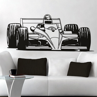 Wall stickers Home Garden Decor Vinyl Removable Art Mural decor Famous sports car F1 M-369 - Stickers store