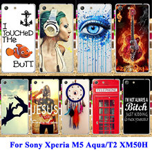 Buy Soft TPU Hard Plastic Phone Cases Sony Xperia M5 Aqua T2 XM50H D5306 E5606 E5653 D5322 D5303 E5603 Housing Covers Shell Bag for $1.68 in AliExpress store