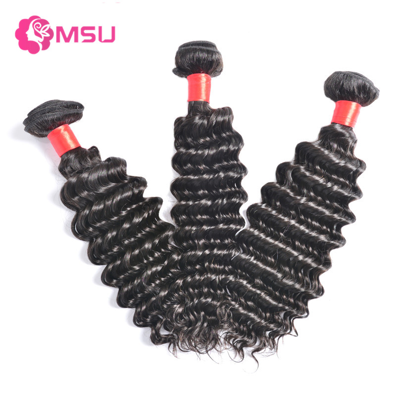 Queen Weave Beauty Brazilian Deep Wave Virgin Hair 3 Bundles Deep Wave Brazilian Hair Grade 8A Brazilian Curly Human Hair Weave<br><br>Aliexpress
