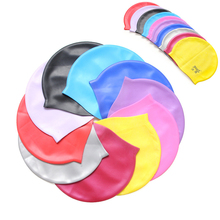 UNISEX ADULT CHILDREN SILICONE SWIM SWIMMING HATS CAPS ONE SIZE FIT FOR ALL(China (Mainland))