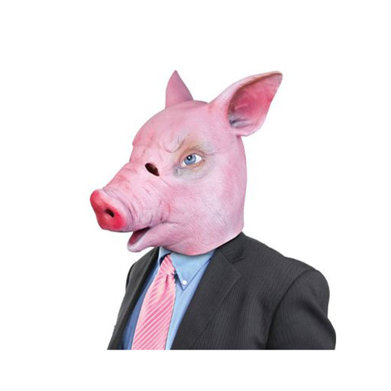 Halloween Magical Creepy Adult Pig Head Latex Rubber Mask Animal Costume Prop Toys(China (Mainland))