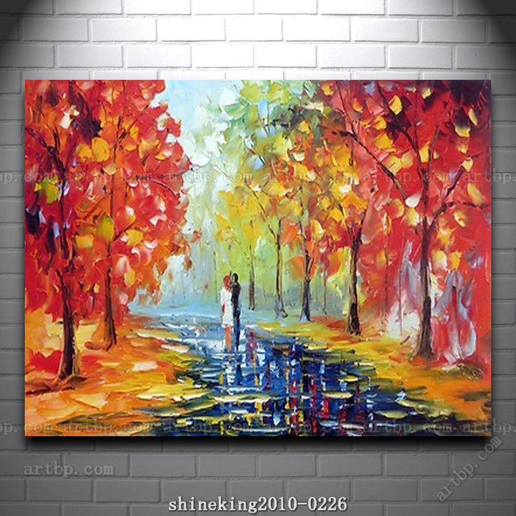 colorful Palette Knife oil painting on canvas modern flower painting film for wall wall frame decorative acrylic paint(China (Mainland))