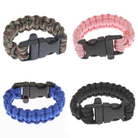 Military Survival Bracelet Buckle with Whistle Outdoor Camping Kit Tool(China (Mainland))