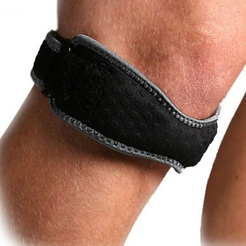 Genuine Sports Knee Pads Strap Patella Support Strap Brace Pad knee protector necessary sporting equipment (2pieces = 1pairs)(China (Mainland))
