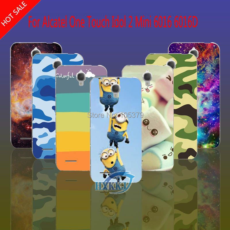 For Alcatel One Touch Idol X 6040 6040A 6040D Case Leopard Skull Cat Lotus Flower Rainbow Hard Cell Phone Case(China (Mainland))