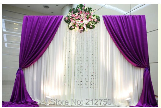 Wholesale free shipping new wedding backdrop curtains sign table background wedding drapes 3m height*3m wide(China (Mainland))