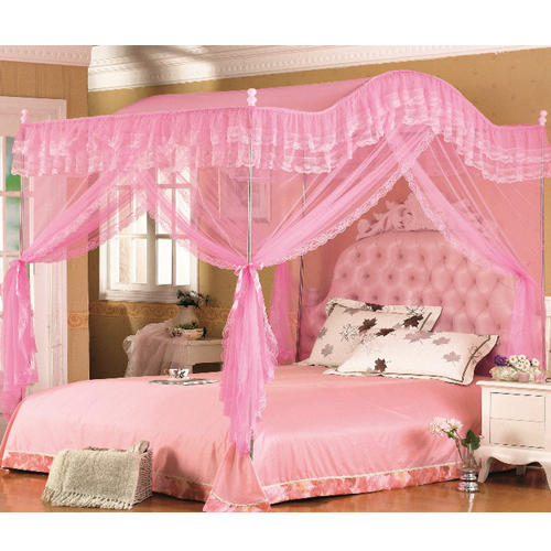 H amp l mosquito net bed canopy bedroom 4 corner 3 door curtain arch frame in mosquito net from home