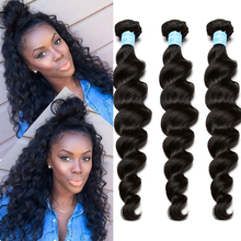 7A Brazilian Virgin Hair Loose Wave 3 Brazilian Hair Weave Bundles Honey Queen Hair Products Curly Weave Human Hair Extensions(China (Mainland))