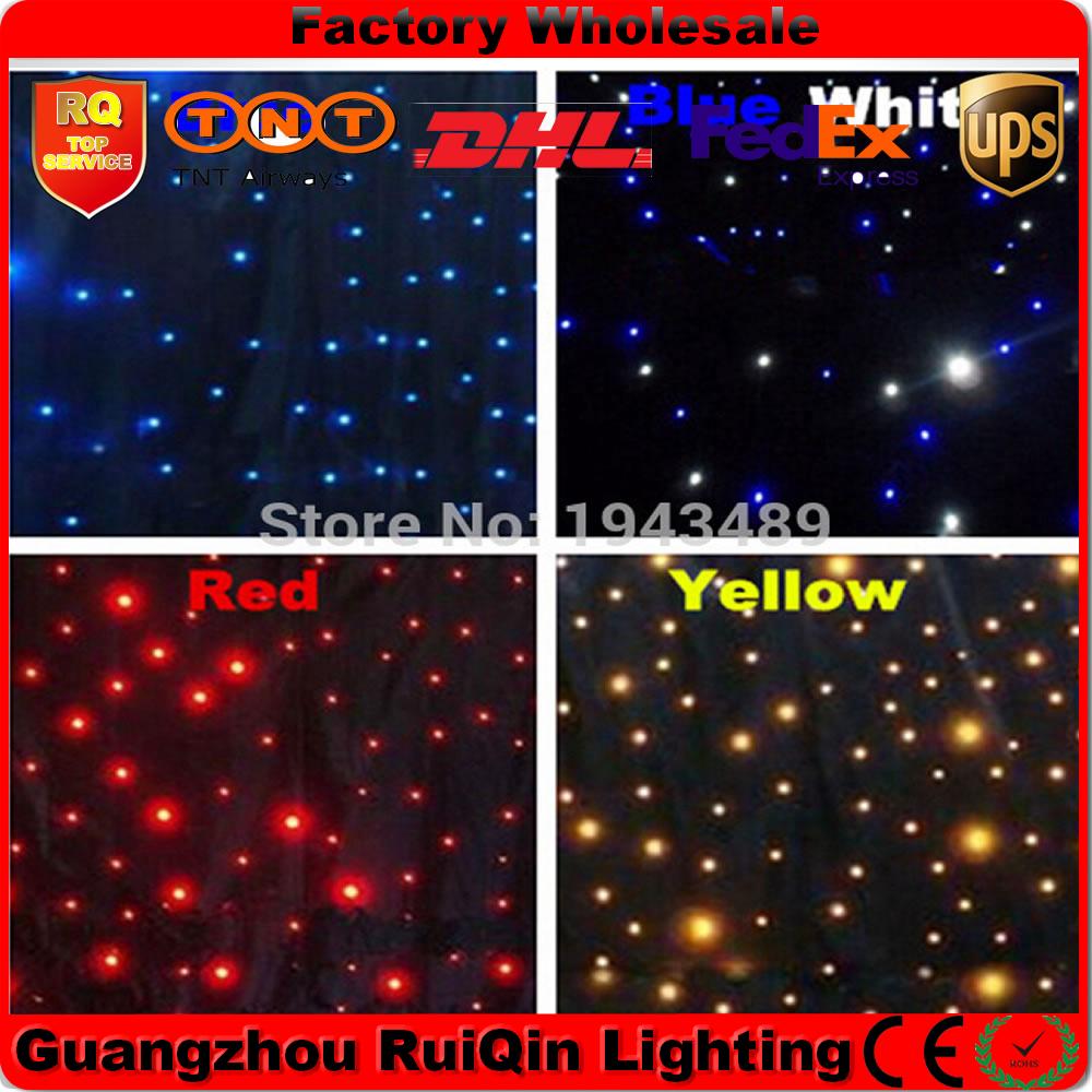Free shipping 3.6mx20m Led star curtain for disco backdrops,wedding equipments,tv show backdrops(China (Mainland))