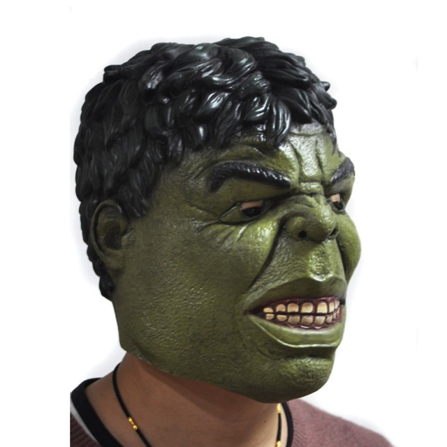 Men's Latex Face Mask Hulk Cosplay Movie Adult Party Masquerade Rubber Masks For Halloween