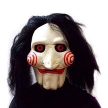 Hot Worldwide Saw Movie Jigsaw Puppet Mask Halloween Full Mask Head Latex Creepy Scary Worldwide Sale(China (Mainland))
