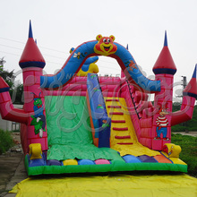 Commercial Inflatable Dual Slides Inflatable Bouncer for sale(China (Mainland))