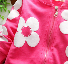 2015 spring girl jacket retail 0 2 year baby s outwear kids coat long sleeve flower