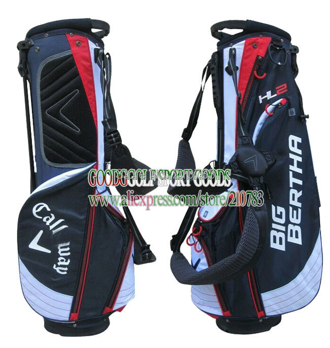 Free shipping Golf bag high quality PU golf stand Bag 9.5Inch With Black/aBlue in choice golf clubs bag with headcover(China (Mainland))