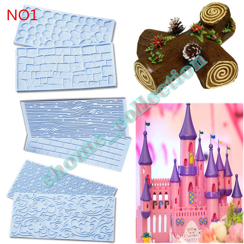High Quality 5 Set Wall Lace Flower Heart Stone Shape Embosser Cake Decoration Mold Sugar Craft Pastry Baking Tools Kitchen DIY(China (Mainland))
