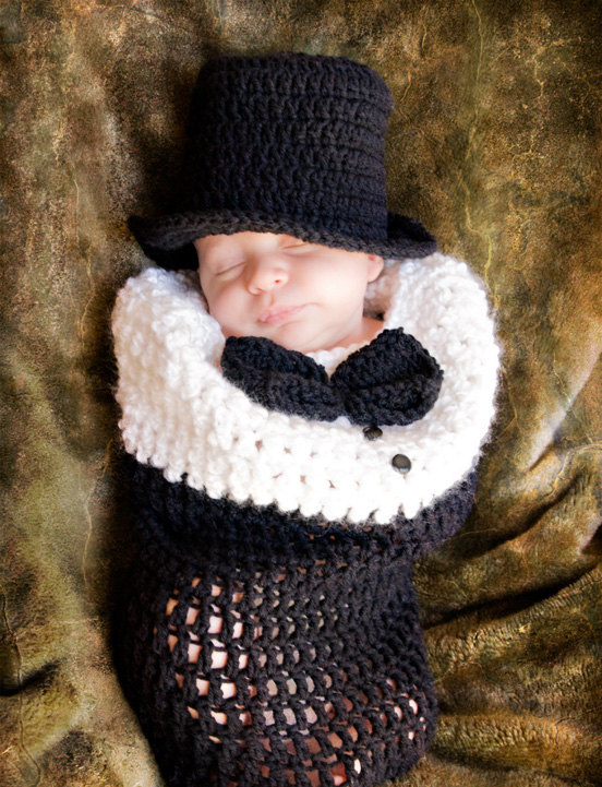 2015 Newborn baby cowboy style photography props Handmade knitted cotton crochet sets Infant western cowboy hats & sleeping bag(China (Mainland))