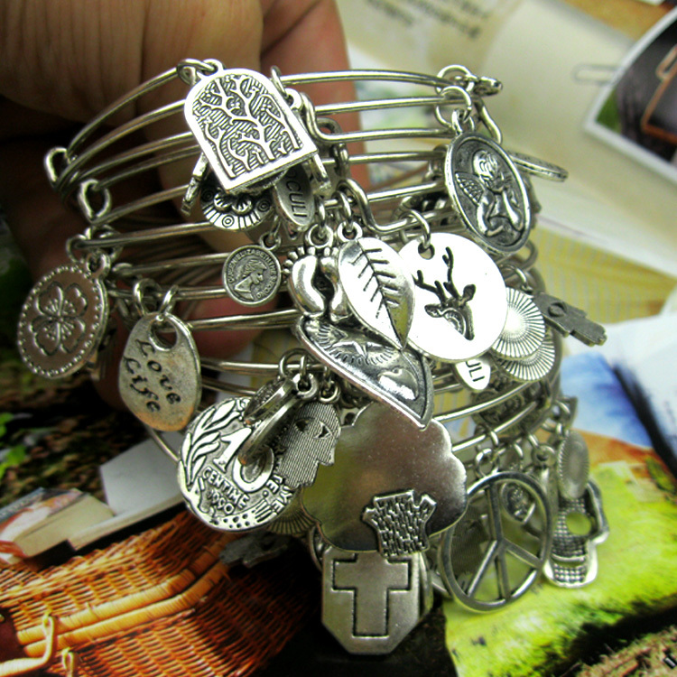 America fashion style Positive Energy Silver Plated Expandable Life Tree Charm Bracelets Bangles Lady - Hi-Look store