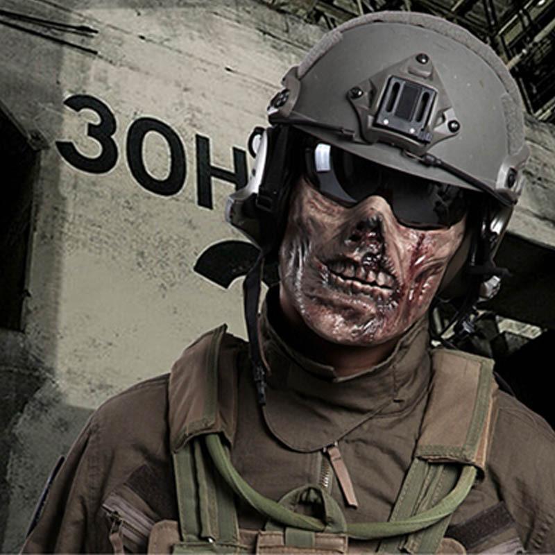 Paintball Masks Skull Skull Half Face Mask