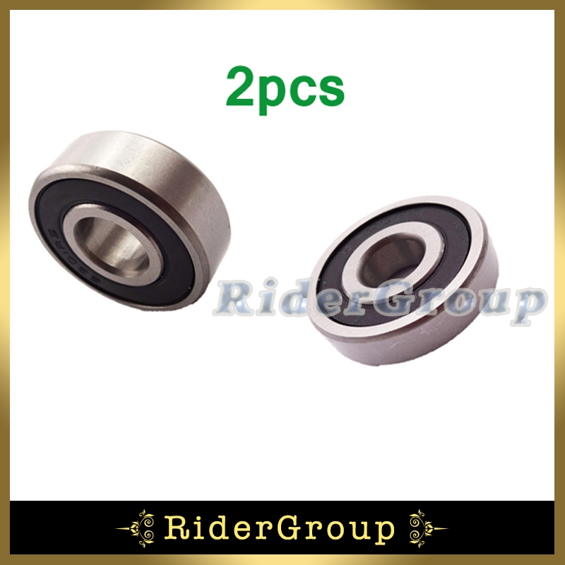 2pcs Rubber Sealed Ball Bearing 6202 RS Pit Dirt Trail Motor Bike Motorcycle Motocross SDG SSR Wheel Axle 15x35x11mm