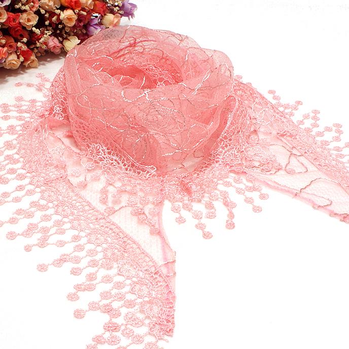 2013 autumn silk scarf patchwork laciness bib cape scarf multicolor(China (Mainland))