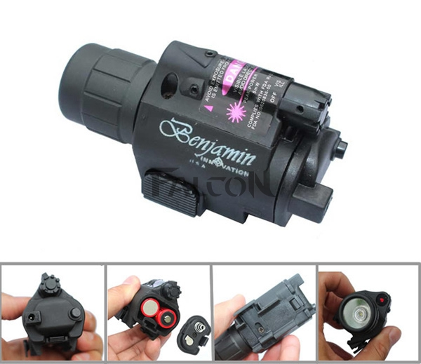 2in1 Tactical Red Dot Laser Sight + LED Flashlight Combo Hunting Laser for Pistol Guns Glock 17,19,20,21,22,23,30,31,32(China (Mainland))