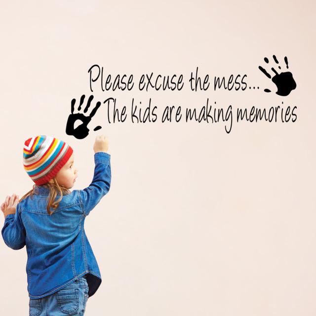 Прошу прощения за беспорядок дети декор виниловые наклейки на стены цитатой наклейка вдохновение гостиная украшения