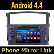 Android 4.4 System Car GPS DVD Head Unit for Mitsubishi Pajero / Montero 2006 - 2012 with Radio + Phone Mirror Link Function(China (Mainland))
