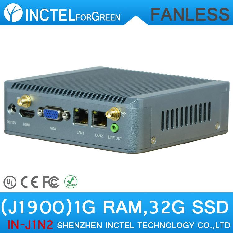Nano PC Computer Intel Quad Core processor J1900 dual lan with support Wake on LAN PXE Watchdog 3G GPIO 1G RAM 32G SSD<br><br>Aliexpress