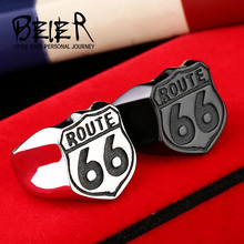 Buy Beier new store 316L Stainless Steel ring high USA Biker Road ROUTE 66 Ring Men Motor Biker Men's Jewelry BR8-126 for $2.49 in AliExpress store