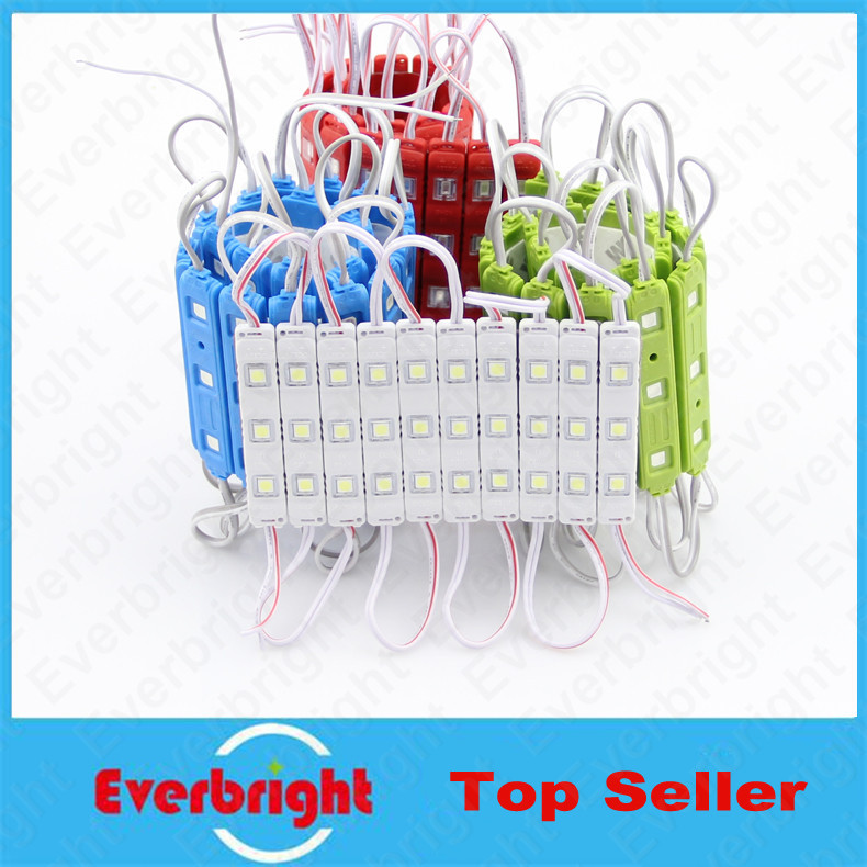 20 pcs/Lot Super Bright injection molding 5050 Red LED Module 3 LEDS Light Waterproof For LED Channel Letter Advertising Sign<br><br>Aliexpress