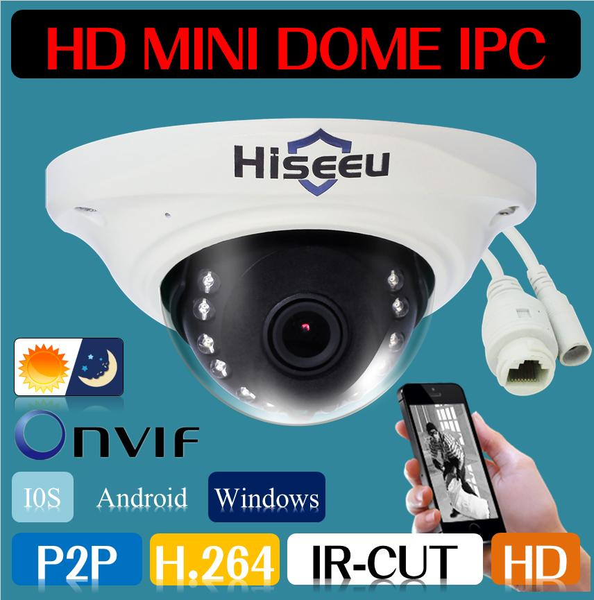 Freeshipping POE IP Camera HD CCTV Camera Security Network Cam Mini Dome 720P 1080P 1MP 2MP Android IOS H.264 P2P Remote ONVIF(China (Mainland))