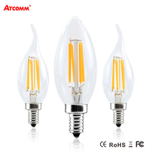 Buy Ampoule LED E12 E14 17 Retro Edison Bulb 2W 4W 6W 110V 220V Flicker LED Diode Candle Light Dimmable Incandescent Bombillas for $1.91 in AliExpress store