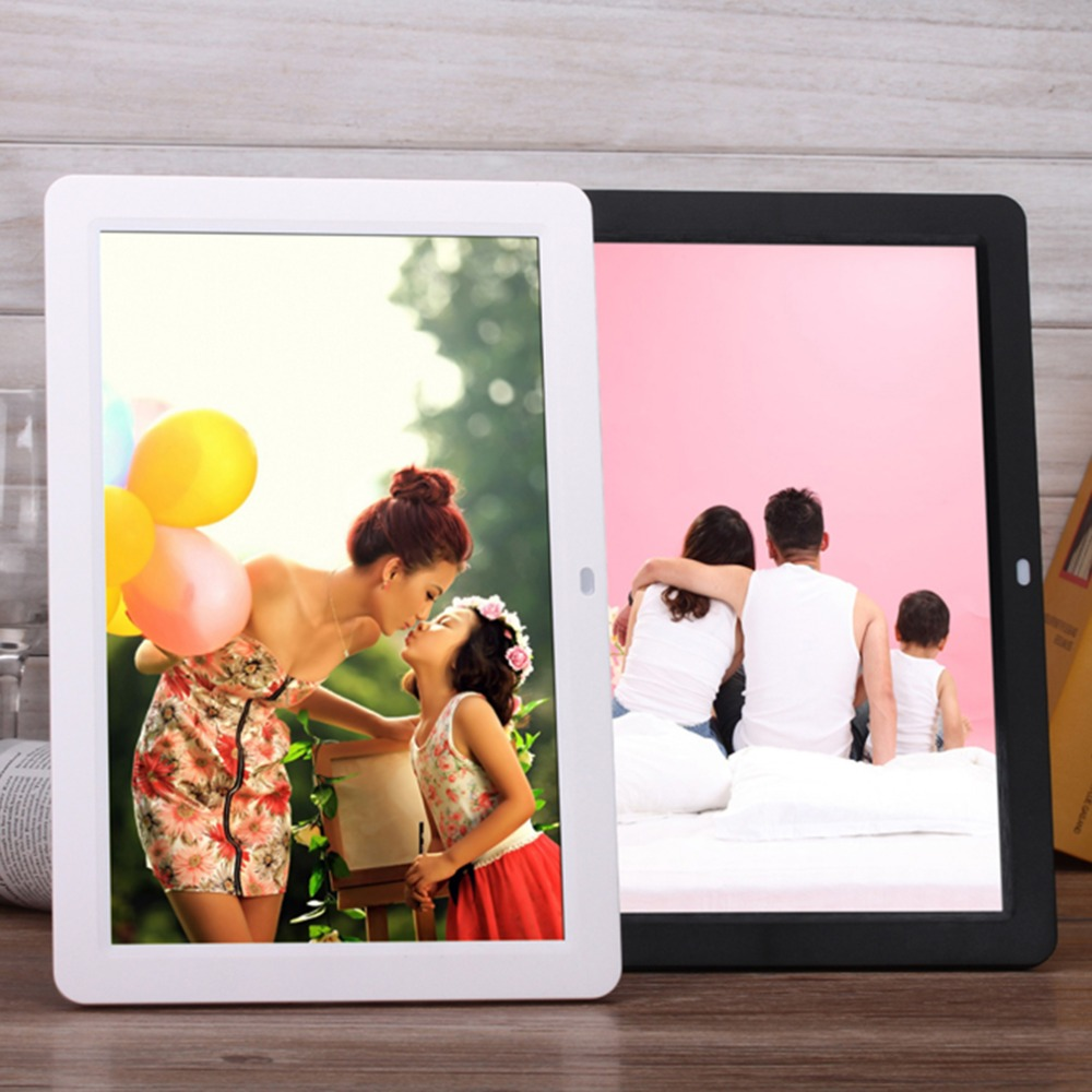 New Digital Photo Frames Smart Home TFT LED Digital Movies  MP3 Alarm Clock Photo Frame with Remote Control Touch Pen EU Plug<br><br>Aliexpress