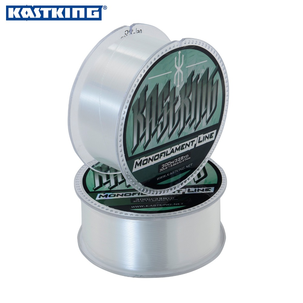 KastKing 300m Extreme Strong Monofilament Nylon Fishing Line Clear White,Yellow,Green,Red,Blue 4LB - 35LB (0.14mm - 0.50mm)(China (Mainland))