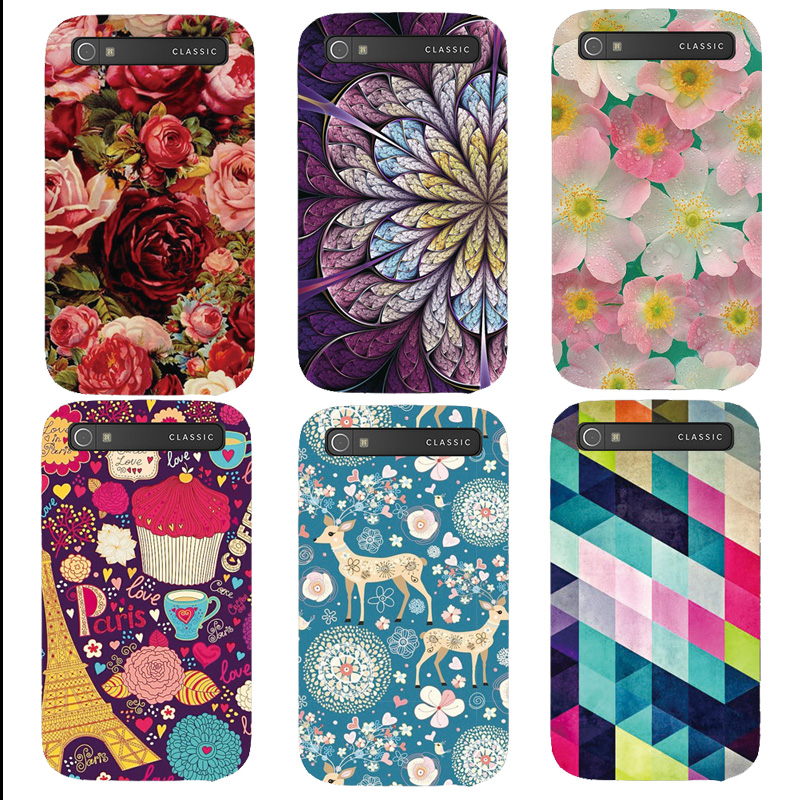 Printed Cute Plastic Hard Case For Blackberry Classic Q20 case Case Back Cover Cellphone Bag(China (Mainland))