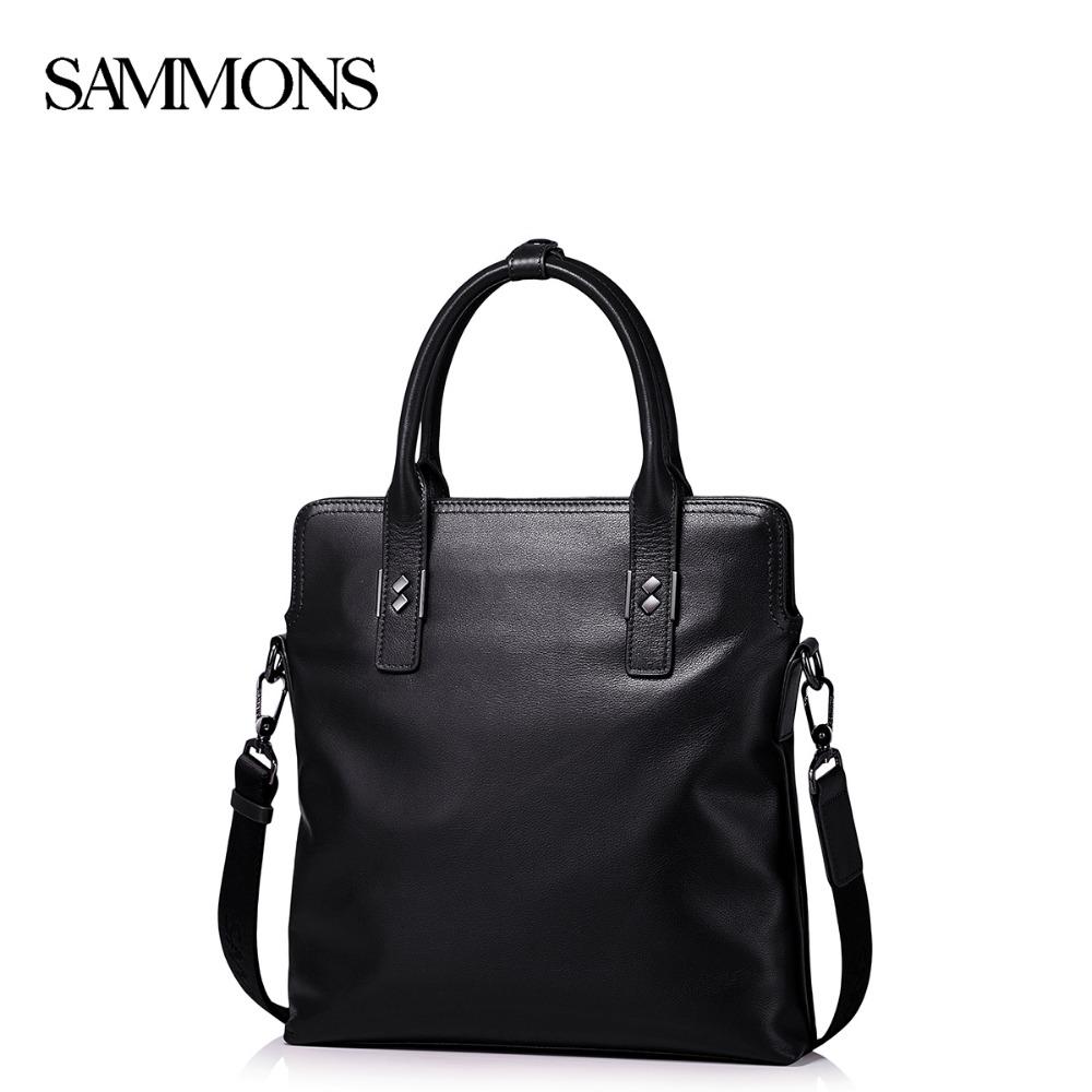 Sammons Men Genuine Leather Handbag Male Cowhide Leisure Tote Bags Mans Crossbody Bags For Men Causal Messenger Bags SZ5303<br><br>Aliexpress