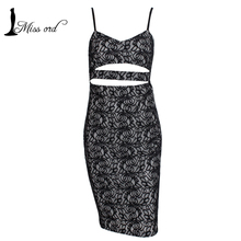 Free shoping 2014 Sexy deep V Hollow Out harness dress sexy lace Party dress FT1802