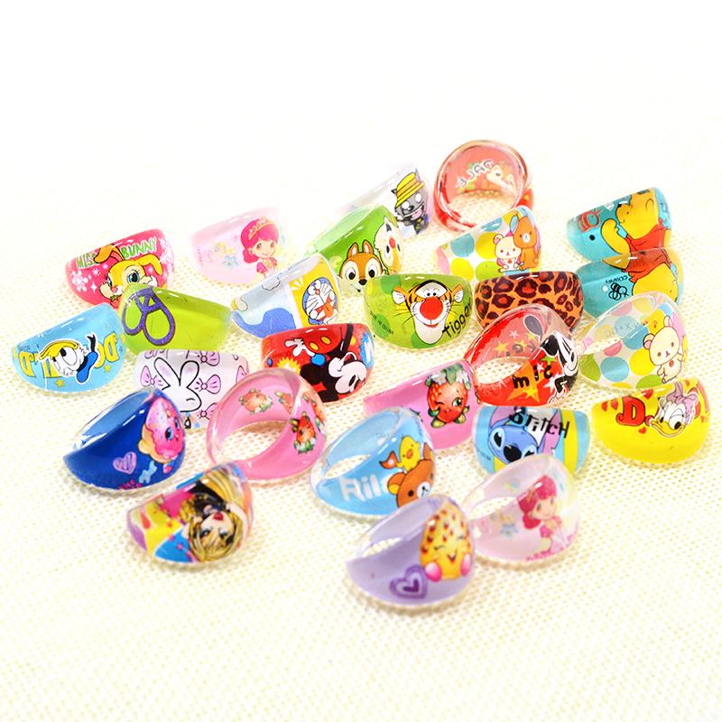 100Pcs Wholesale Mixed Bulks anneau Jewellery Kids Children Rings Cartoon Girls Princess Children Rings Birthday Party Gift(China (Mainland))