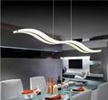 38W Modern creative fashion S shaped acrylic pendant AC85 265V Simple LED Fishing Line pendant Restaurant
