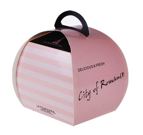 10.8*9.2*10.8cm Fast free shipping Portable Handle Macaron Bakery Cake Boxes food packaging, big size.100piecelot(China (Mainland))