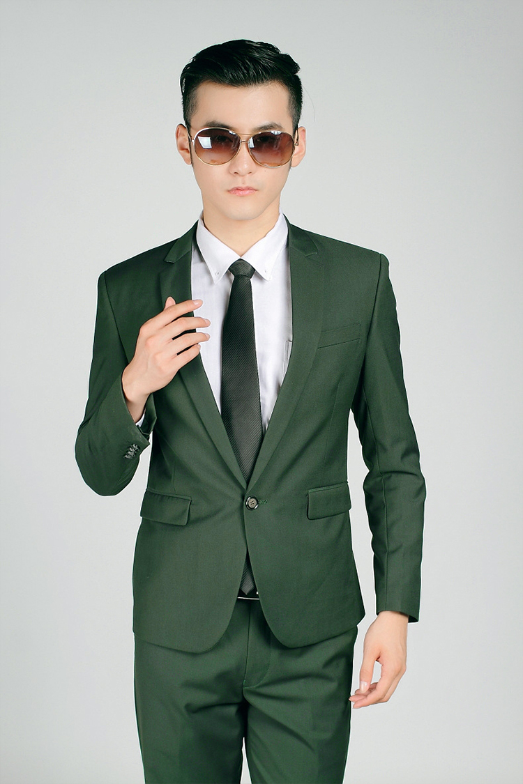 86-Free Shipping New 2015 man suit classic Fashion grooms man suits! Men's Blazer Business Slim Clothing Suit And Pants