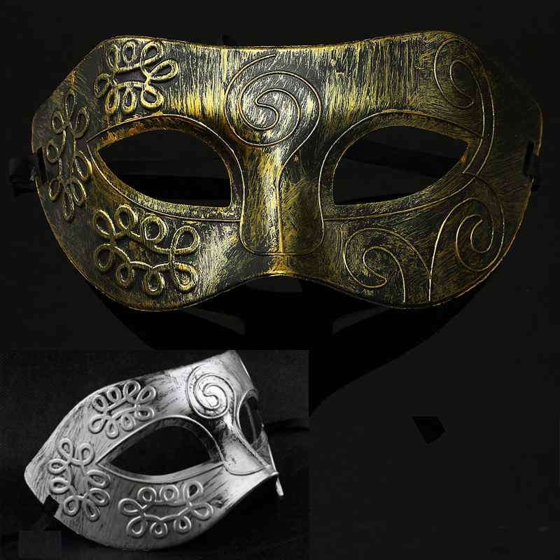 Antique Greek Roman Warrior Men Venetian Mardi Gras Party Masquerade Mask