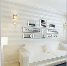 schlichte und moderne nicht- gewebtes weiß/beige streifen tapeten ...