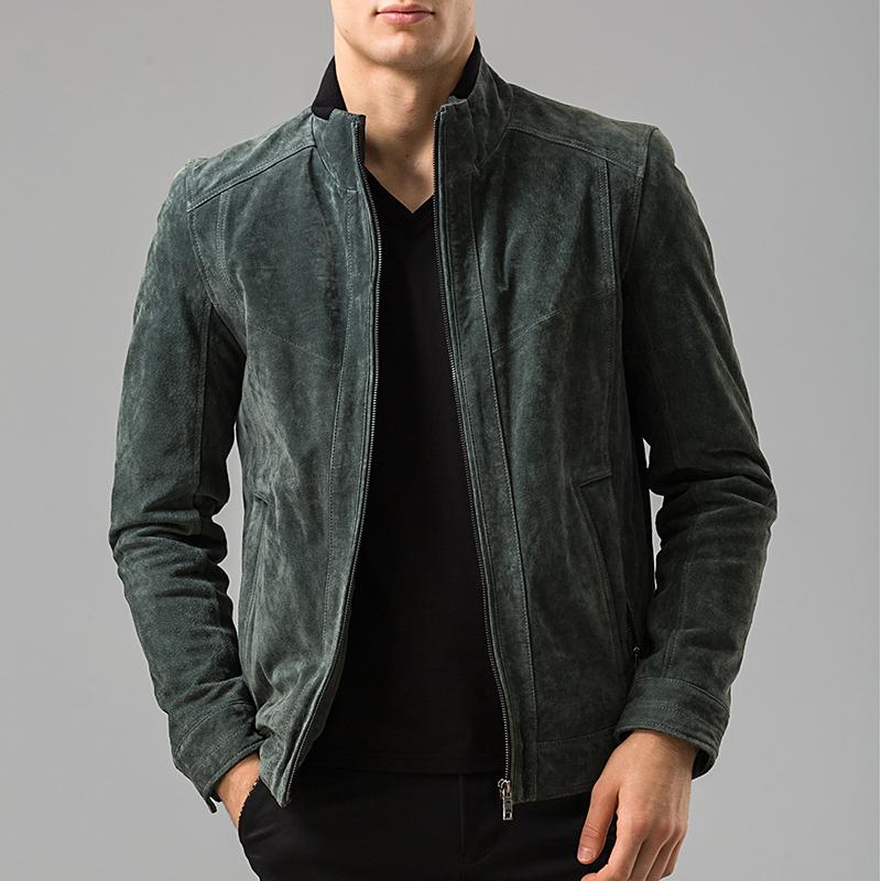 Men's real leather jacket motorcycle coat bomber jackets Pigskin Genuine Leather jacket male coat(China (Mainland))