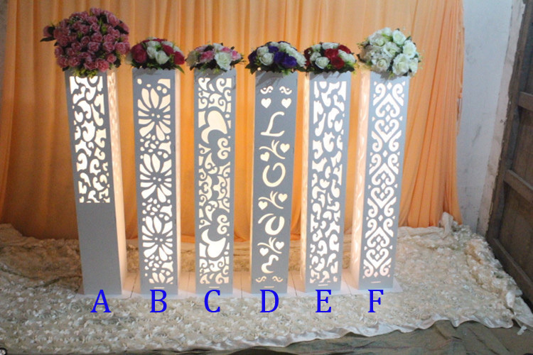 Wholesale wedding hollow out carved pillar column without for Decoration de stand