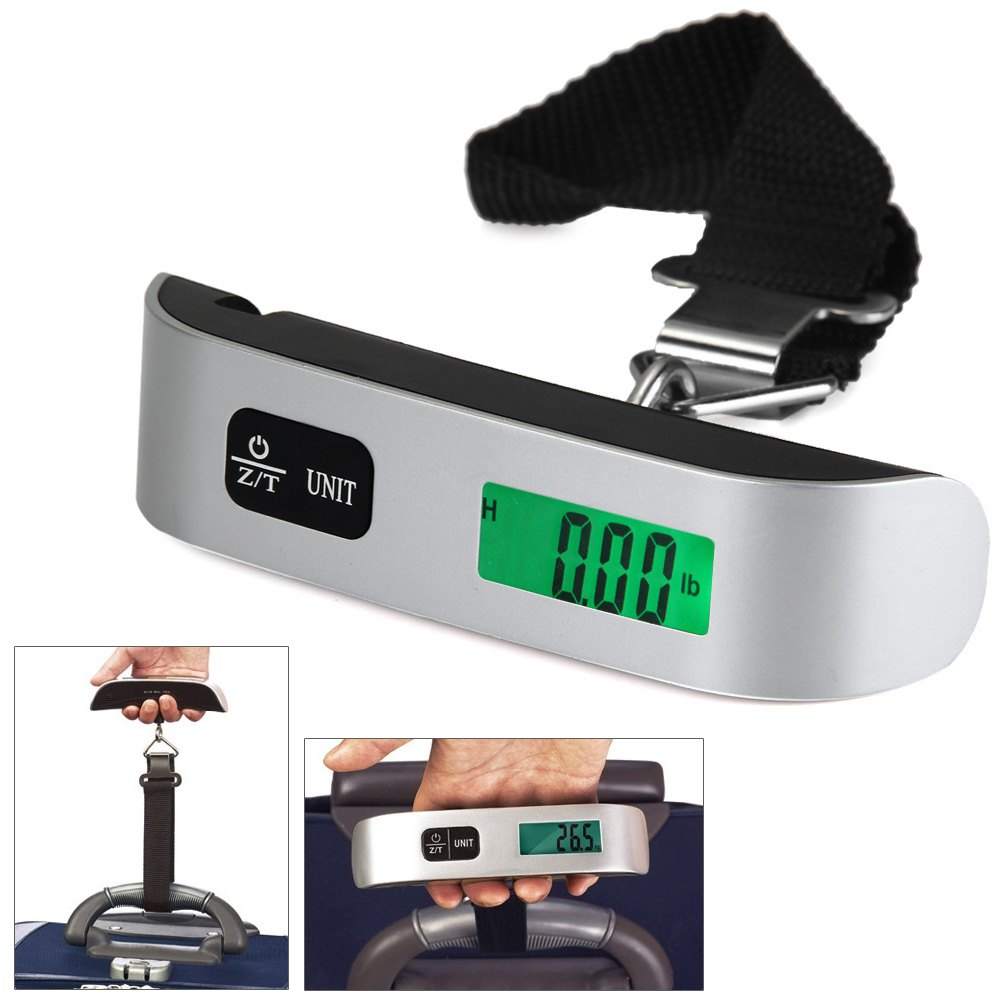 Hot Mini Digital LCD Electronic Scale 50kg Capacity Hand Carry Luggage Bag Digital Weighing Hook scale Device Thermometer(China (Mainland))